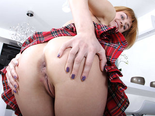 Candy has her tight asshole spread..